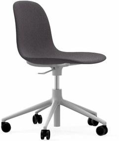 Normann Copenhagen Form Chair Bureaustoel Met Wit Onderstel Fame Hybrid 1201 Grijs