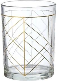 Drinkglas Lijnen Goud