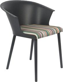 Vergaderstoel Olivia Zwart (Set van 2 stoelen)