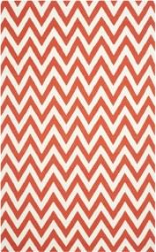 Safavieh   Handgeweven vloerkleed Nelli Dhurrie 120 x 180 cm rood, ivoor vloerkleden wol, katoen vloerkleden & woontextiel   NADUVI outlet