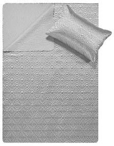DreamHouse Bedding Bedsprei - Satin Orlando - Zilver 180 x 250 + 1 kussensloop