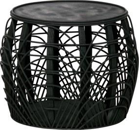 WOOOD | Bijzettafel Marit hoogte 38 cm x breedte 49 cm x diepte 49 cm zwart bijzettafels hout meubels tafels | NADUVI outlet