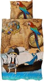 Vipack dekbedovertrek Piraat - bruin - 140x200 cm - Leen Bakker
