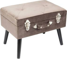 Kare Design Suitcase Ludieke Grijze Hocker
