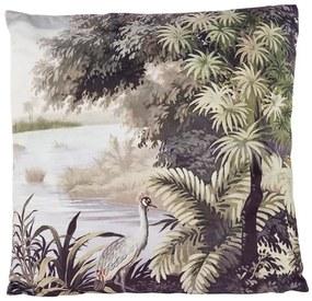 Kussen fluweel - kraanvogel - 45x45 cm