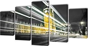 Canvasdoeken Londen Big Ben 100 x 50 cm
