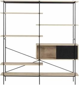 Houten design wandkast - Nik - Metalen frame