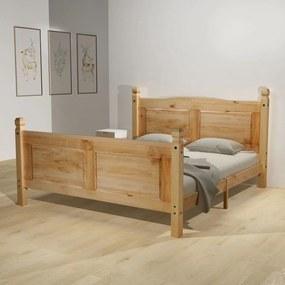 Medina Bed met traagschuim matras grenenhout Corona-stijl 140x200 cm
