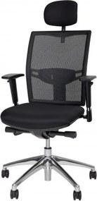 Bureaustoel 706 met hoofdsteun - zwart