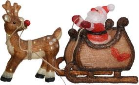 Kerstverlichting kerstman en slee buiten 47 cm 60 LED s