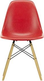 Vitra Eames DSW Fiberglass stoel esdoorn goud Classic red