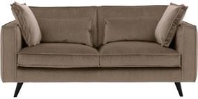 Goossens Bank Suite bruin, stof, 2,5-zits, elegant chic