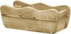 Plantenbak verhoogd 50x18x18 cm geïmpregneerd grenenhout