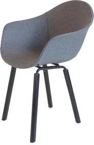 Toou TA UP eetkamerstoel - Met armleuning - Bekleed - YI Zwart onderstel- Gestoffeerd - Kuipstoel - Bekleding - Stoel - Armleuning - Hout - Design