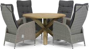 Garden Collections Lincoln/Sand City 120 cm rond dining tuinset 5-delig