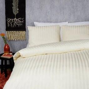 Dekbed-Discounter Satin Stripes - Ivoor 1-persoons (140 x 200/220 cm + 1 kussensloop) Dekbedovertrek
