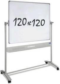 Whiteboard Verrijdbaar - Dubbelzijdig - Magnetisch - 120 x 120 cm