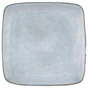 Vierkant bord Toscane - blauw - 25 cm