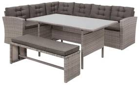 Lounge set rotan grijs VITERBO