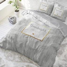 Sleeptime Elegance Marble Goodnight 3 - Goud 1-persoons (140 x 220 cm + 1 kussensloop) Dekbedovertrek