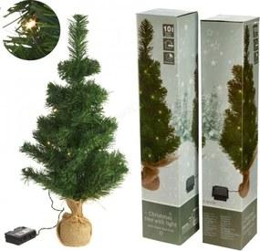 Kerstboom 60 Cm Met 10 LED-Lampjes Warm Wit