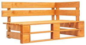 Medina Tuinhoekbank pallet hout honingbruin