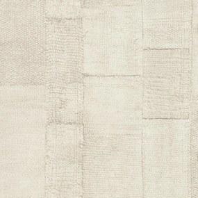 Rivièra Maison - RM Wallpaper Rustic Rough Linen creme - Kleur: creme
