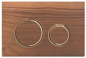 Bedieningsplaat Geberit Sigma 21 voor 2-toets Spoeling Rosé Goud / Amerikaans noten