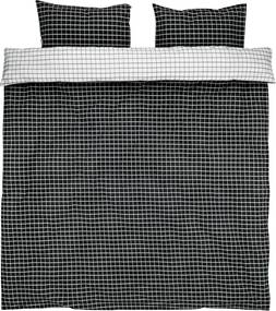 Dekbedovertrek KARIN 200x220 wit/zwart