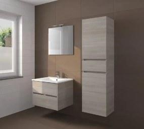 Badkamermeubel set Melle 80cm met spiegel en Hoge kast Grey Oak
