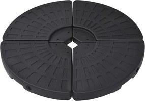 Parasolvoeten waaiervormig 4 st zwart