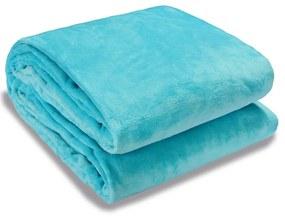 Monzana Premium deken 200x150cm - blauw - 300g/m²