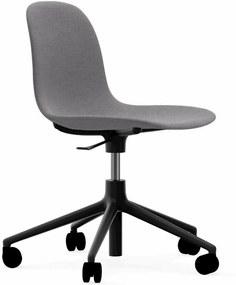 Normann Copenhagen Form Chair bureaustoel met zwart onderstel Steelcut Trio 133 grijs