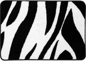Badmat Antislip Sealskin Safari Acryl Zwart 60x90cm