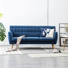 Driezitsbank 172x70x82 cm stof blauw