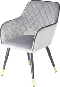 Hearthome & Living | Stoel Amino lengte 61 cm x breedte 58.8 cm x hoogte 86 cm roze, zwart stoelen zitting: fluwelen stof | NADUVI outlet