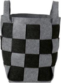 Sealskin wasmand Weave 30x56x30 zwart 361982019