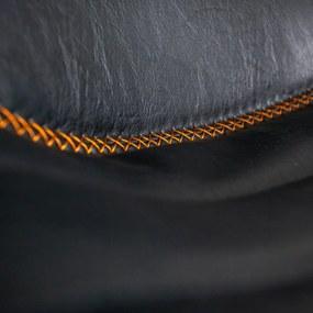 Dimehouse   Barkruk Jack - totaal: breedte 49 cm x diepte 43 cm x hoogte antraciet barkrukken kunstleer, metaal poefs &   NADUVI outlet