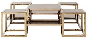 Kare Design Steps Gouden Salontafel - 120 X 120cm.