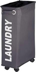 Wasmand Wenko Quadro Polyester Grijs 60x40x18.5cm
