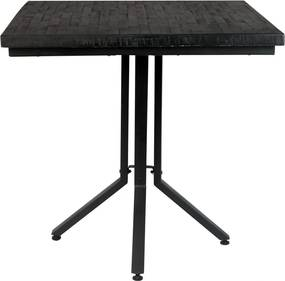 Vierkante Eettafel Zwart - 75 X 75cm.