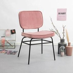 By-Boo Eetkamerstoel 'Vice' Velvet, kleur roze