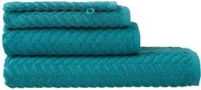 Handdoeken - Zware Kwaliteit - Zigzag Donkergroen (donkergroen)