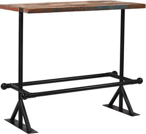 Bartafel 120x60x107 cm massief gerecycled hout meerkleurig