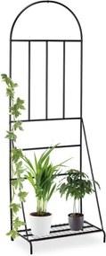 Plantenrek - plantensteun - vrijstaand - rankhulp - 200 cm hoog - metaal - zwart