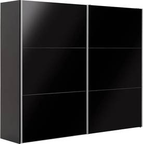 Goossens Kledingkast Easy Storage Sdk, 250 cm breed, 220 cm hoog, 2x 3 paneel glas schuifdeuren