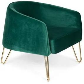 Bold Monkey   Fauteuil Queenalicious -totaal: lengte 85 cm x breedte 75 cm x hoogte rood fauteuils polyester, rvs stoelen   NADUVI outlet