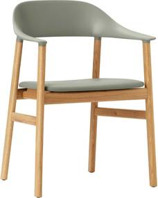Normann Copenhagen Herit Armchair Oak stoel Spectrum leer Dusty Green