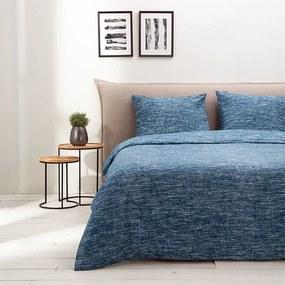 Fresh & Co Soft Melange - Blauw 1-persoons (140 x 220 cm + 1 kussensloop) Dekbedovertrek