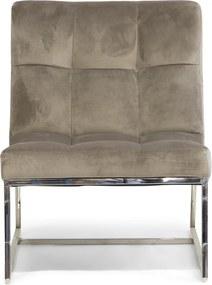 Rivièra Maison - Thompson Place Chair, velvet III, nickel - Kleur: groen